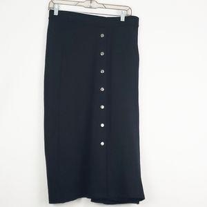NWT Linda Matthews Black Skirt Sz 2X